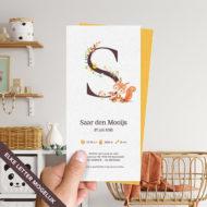 Ongevouwen geboortekaartje