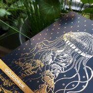 Postkaart foliedruk goud