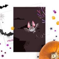 Postkaarten Studio Draak Halloween.